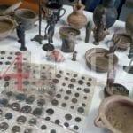 Oltre 200 preziosi reperti archeologici in casa: denunciato un 55enne di Minturno (#VIDEO)