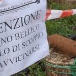 Ordigno bellico ritrovato a Fondi in zona Ponte Tavolato