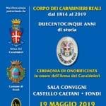 Una cerimonia di onorificenza in onore dell'Arma dei Carabinieri