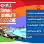 Giornate ecologiche a Formia: domenica 12 appuntamento a Gianola