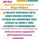 Interventi mirati a Borgo Podgora, l'incontro con Lbc