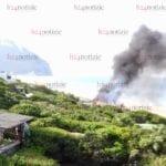 Incendio tra le dune di Sabaudia: a fuoco dependance di una villa