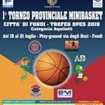 Da venerdì a Fondi il torneo provinciale di minibasket