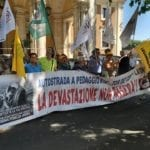 La scorsa settimana il presidio di Legambiente Lazio per dire 'no' all'autostrada Roma-Latina