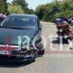 Incidente su via Sant'Agostino: Auto contro moto