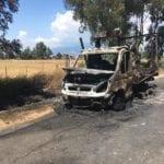 Camion in fiamme sulla Migliara 49, strada chiusa