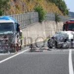 Autocisterna contro macchina, incidente mortale sulla Frosinone-Mare
