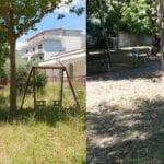 Parco Arcobaleno a Formia, ripulito dopo la segnalazione
