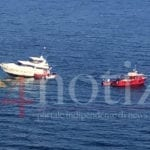 Yacht arenato sugli scogli, Attimi di paura a Ponza