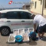 Vendita abusiva di pesce in spiaggia, l'ennesimo sequestro della Guardia Costiera