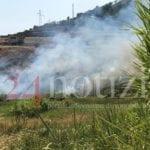 Formia, in corso un vasto incendio in località Scacciagalline (#FOTO E #VIDEO)