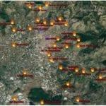 """""""Ci avete rotto il…verde"""", ecco la mappa del fuoco della Piana di Fondi"""