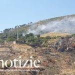 Formia, mattinata di incendi nella valle di fronte Castellonorato e dietro il monte di Mola (#VIDEO)