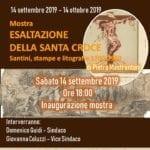 Inaugurata a Bassiano la mostra dei Santini sulla Esaltazione della Santa Croce