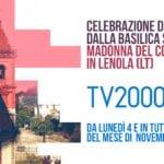 Dal Santuario della Madonna del Colle la messi sull'emittente Tv2000
