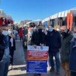 L'Ugl Lazio al fianco degli ambulanti. Ieri volantinaggio a Latina