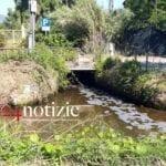 Schiuma sospetta nel canale, la segnalazione a Fondi