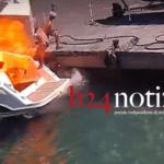 Incidente al porto, il video della paurosa esplosione del motoscafo: indaga la Capitaneria