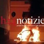 VIDEO – Auto a fuoco, incendio nel centro di Formia