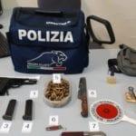 """Minacce con la pistola """"abusiva"""": un arresto a Latina"""