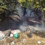 Incendio a Formia, rifiuti a fuoco nell'ex Arsial