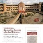 """""""Ventotene. Da confino fascista a Isola d'Europa"""", la presentazione del libro"""