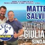 Salvini al ristorante per spingere l'aspirante sindaco Giuliani