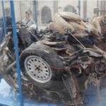 Mafia, a Latina i resti della macchina che scortava Falcone