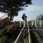 La forza del vento sulla Flacca tra Gaeta e Sperlonga #FOTO