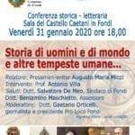 Storia di uomini e di mondo e altre tempeste umane, la conferenza
