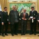 Alla festa della Polizia locale premiato l'agente cisternese Massimo Brighenti