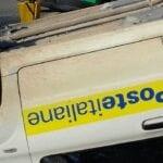 Incidente tra Fondi e Monte San Biagio: postina si ribalta con l'auto di servizio