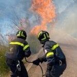 Incendio sulle colline di Fondi in zona Querce-Crocette – FOTO