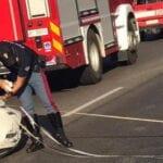 Incidente sulla Pontina, auto si ribalta: due i feriti