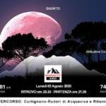 Fondi, la corsa in montagna al chiaro di Luna