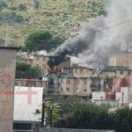 Incendio in appartamento, paura a Scacciagalline a Formia – VIDEO