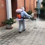 Quartiere San Valentino, effettuato l'intervento di igienizzazione
