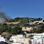 Incendio a Ponza, fiamme sulla Collina dei Guarini
