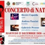 Fondi, tutto pronto per il Concerto di Natale in streaming