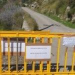 Formia, dopo la nevicata di ieri, chiusa la strada per i monti Aurunci