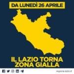 """Lazio da domani si torna gialli, Zingaretti: """"Riapriamo ma non al covid"""""""
