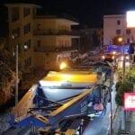 Formia, trasporto eccezionale nella notte appena trascorsa (#VIDEO)